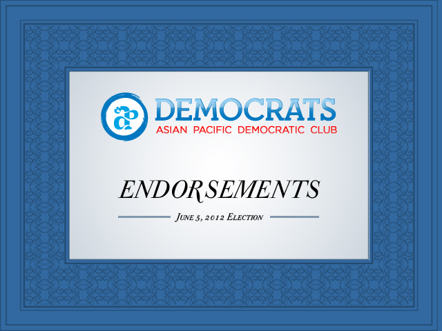 APDC 6-5-2012 endorsements