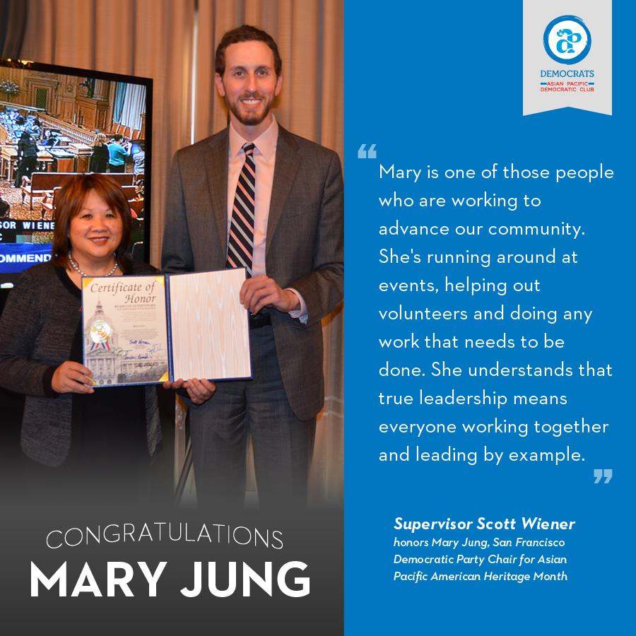 Mary Jung San Francisco APA Heritage Month