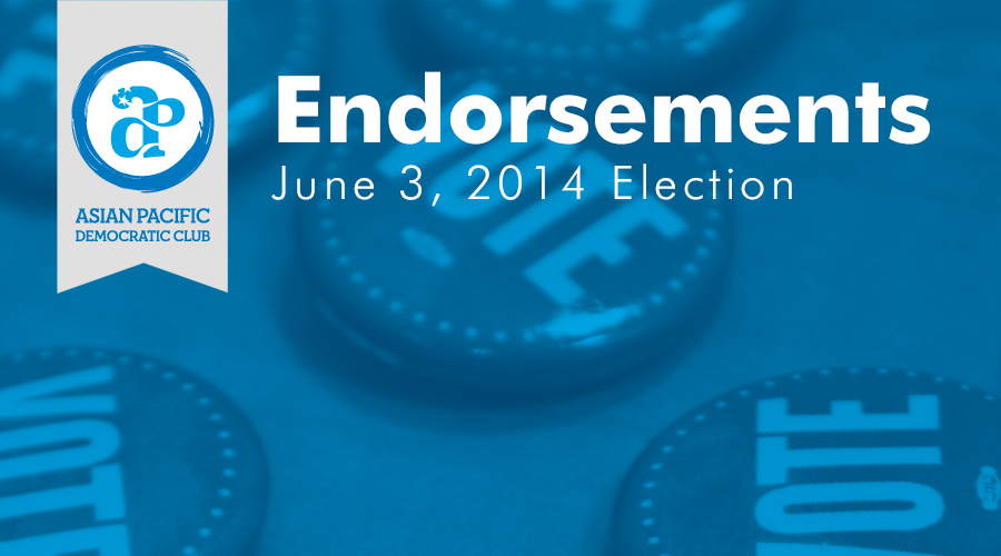 June 3, 2014 Election Endorsements