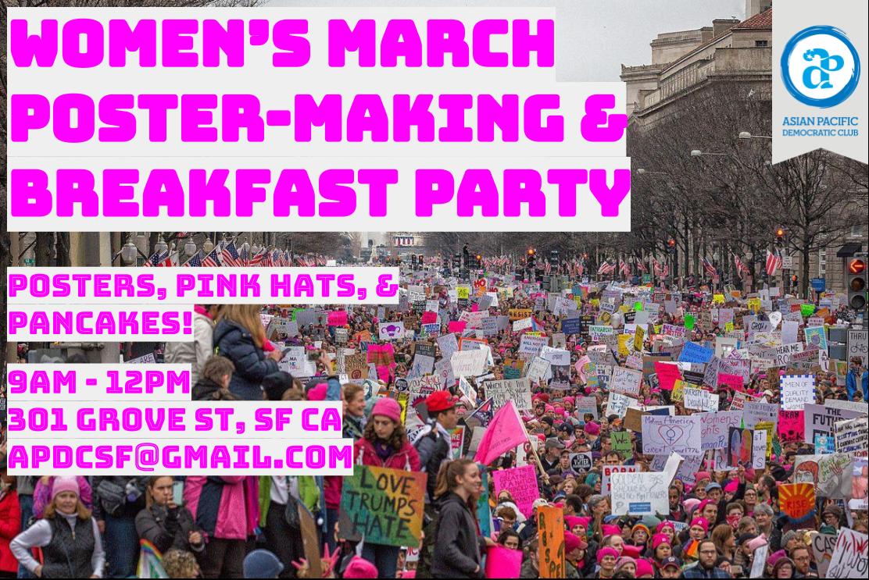 Women's March Poster-Making & Breakfast Party!