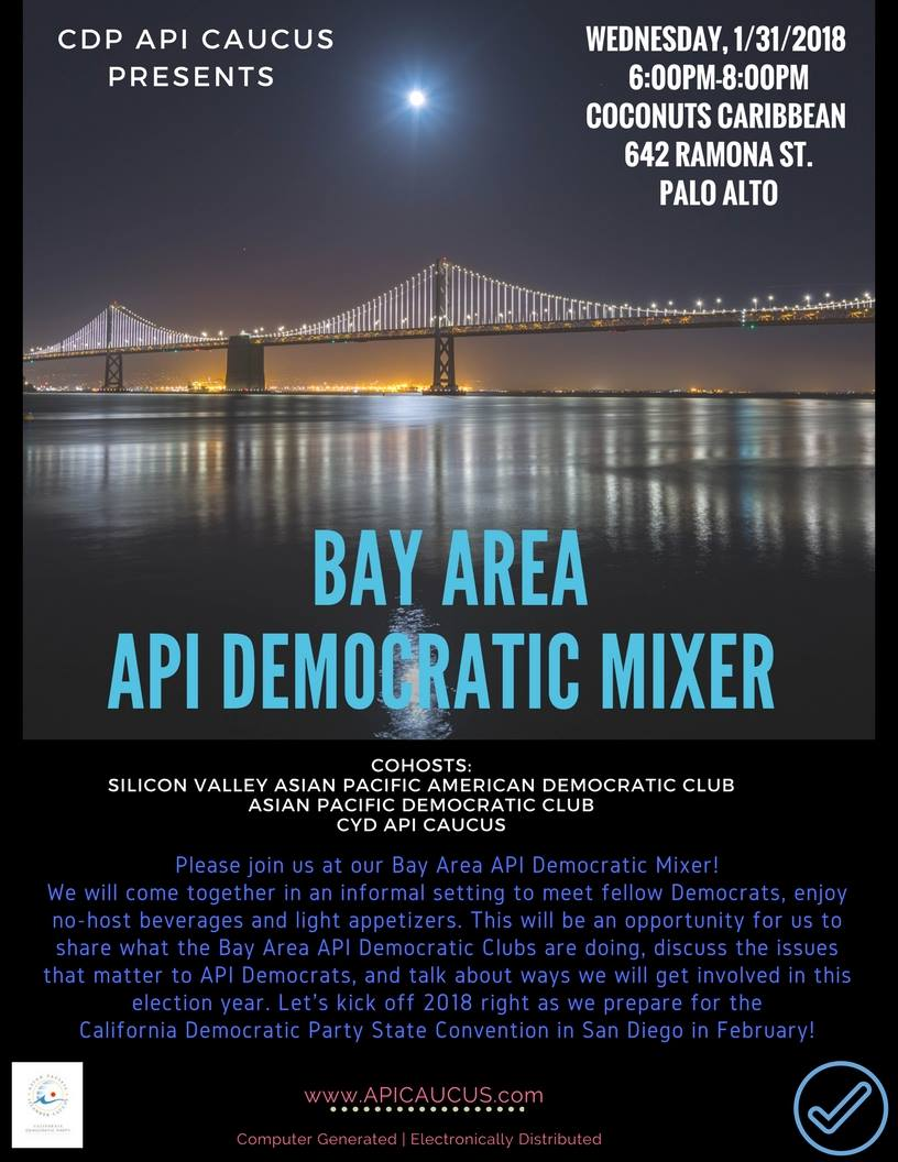 Jan 31: Bay Area API Democratic Mixer