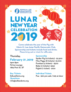 Lunar New Year Celebration with Ed Lee Dems