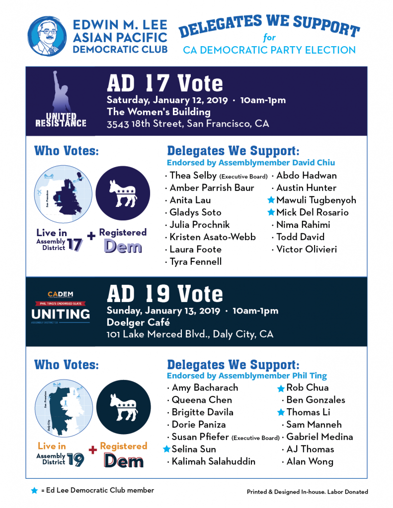 California Democratic Party Election 2019