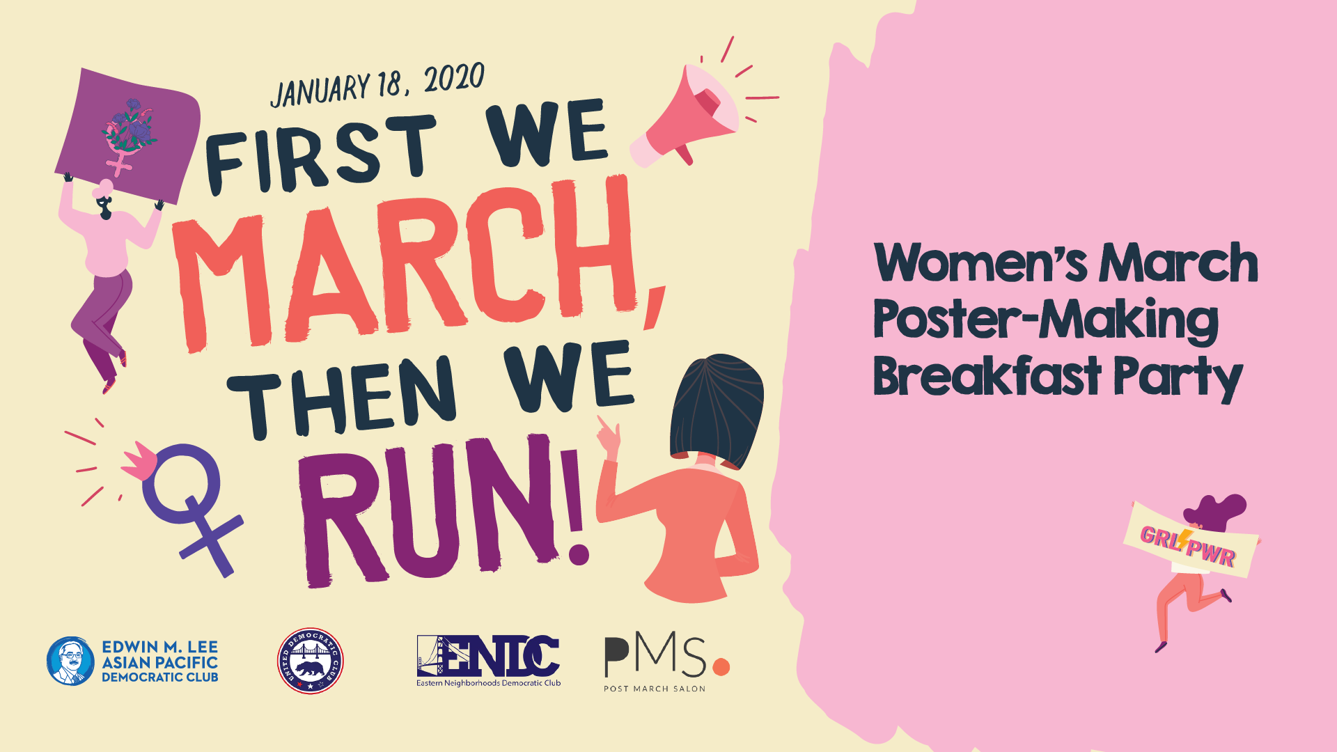 1/18 – Women's March Poster-Making Breakfast Party