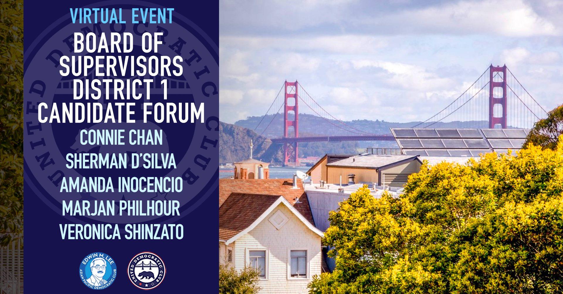 6/30 SF Richmond District Election Forum