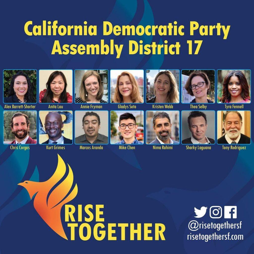 Rise Together slate - all 14 delegates elected